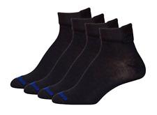 MediPeds Women's Black Flex Panel Coolmax Diabetic Quarter Socks - 4 Pair
