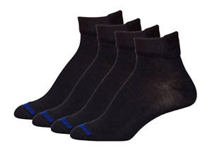 MediPeds Black Flex Panel Coolmax Diabetic Quarter Socks - 4 Pair