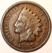 1897 RPD Indian Head Cent, Bronze,  LIBERTY.  L@@K!!!