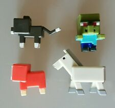 Minecraft Grass Series 1 Mini-Figures Lot of 4 - Cat Sheep Horse Zombie Villager
