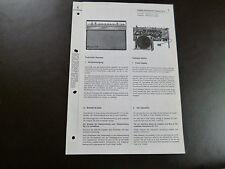 Original Service Manual Siemens Koffersuper  Caramat RK 15