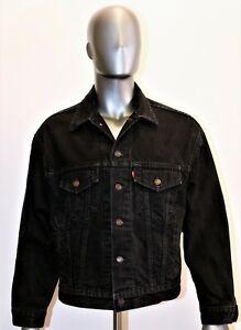 LEVIS black denim blanket trucker jacket vintage 80s size S US M FR made in USA