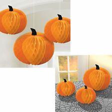 3 PCS Halloween Jack O 'Lantern Honeycomb table pendaison décoration murale
