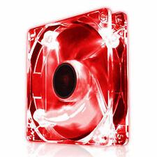 Ezcool 120mm Led Rojo Pc Funda Ventilador Silencioso Silent Fan 12cm Con 3 Pin Conector