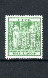New Zealand 1931-40 5s Postal Fiscal MH