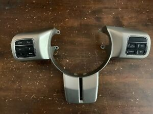 2011-2017 Jeep Wrangler Silver Steering Wheel Trim with Cruise Control Switches