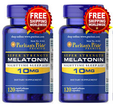 Puritan's Pride Melatonin 10 mg Night Time Sleep Aid 240 Capsules Free Shipping
