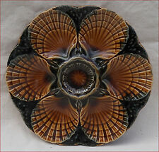 Vintage French Oyster Plate Faience Sarreguemines 1970