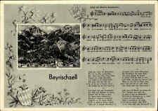 Bayrischzell Baviera para 1950 con notas canción texto de Martin staudacher canción-ak