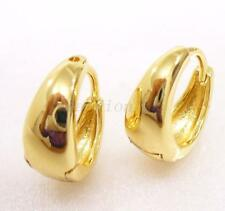 fashion1uk Creole 14K Gold Plated Hoop Earrings Boy Girl Men Women