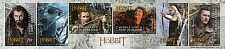 """Tolkien / Hobbit: 6 Briefmarken """"Desolation of Smaug"""" (NZ)"""