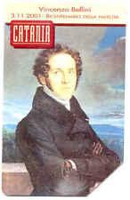VINCENZO BELLINI SCHEDA TELEFONICA TELECOM 1517 LINEE D'ITALIA CATANIA SICILIA