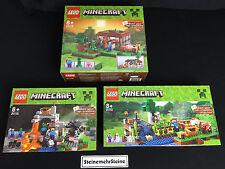 LEGO® 21113 21114 21115 Minecraft Cave Farm First Night Steve´s Haus House New