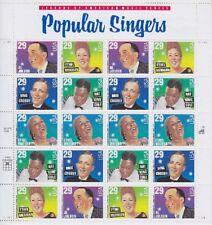 USA Mi Nr. 2486 - 2490 ** Schmuckbogen Bogen, Popular Singers, postfrisch, MNH