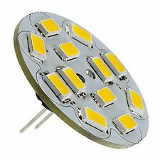 G4 6W 12 SMD LED 5730 12V DC 270LM BACK PIN WARM WHITE (2700K) BULB ~35W