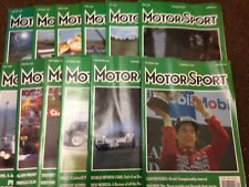 Motor Sport Magazine -  Complete Year of 1990 (12 editions) - Motorsport