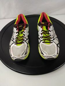 Asics Men's Shoes 11 Running Dynamic Duomax White Green Lace Up S6
