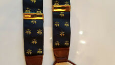 Brooks Brothers Limited Edition Silk Golden Fleece Navy Blue Suspenders Braces