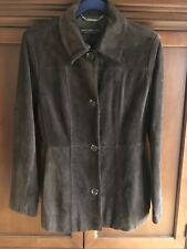 Gently Used Andrew Marc Suede Brown Jacket Blazer Size M