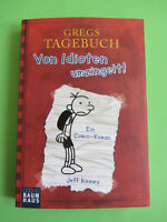 BUCH GREGS TAGEBUCH BD. 1 VON IDIOTEN UMZINGELT! COMIC-ROMAN JEFF KINNEY NEU