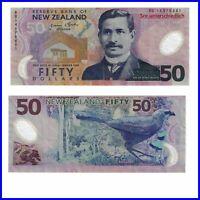 🍀 Pick 188 Neuseeland New Zealand 50 Dollar 2012 VF polymer  54307089m-🍀