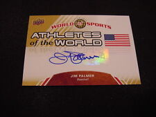BEAUTIFUL Jim Palmer 2010 Upper Deck #AW-100 Athletes of the World Auto'd Card!