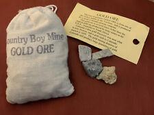 Gold Ore Country Boy Mine, Colorado with Vintage Souvenir Bag (292 grams)