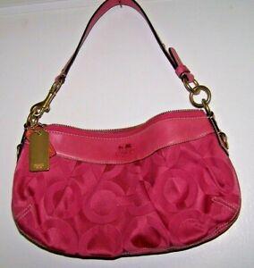 COACH Shoulder Bag - Hobo Style - Sateen - MAGENTA - EUC!