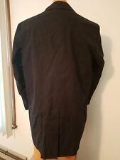 Jos A Bank Men's Coat Black Button Down Winter Jacket Removable Liner Sz 38S