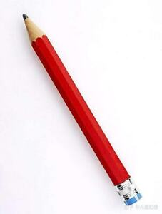 Writing Smooth Red Color Pencil