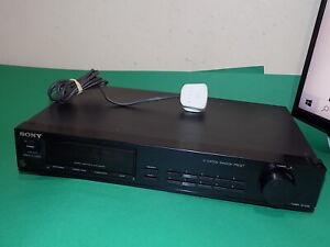 SONY Vintage Audio FM-AM Synthesizer Tuner Hifi ST-S110 Black Japan FAULTY