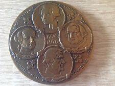 Bronze Medaille 1776-1976 USA,Frankreich,Revolution,gepunzt