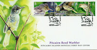 Pitcairn Islands 2019 FDC Reed Warbler 3v Strip Cover Warblers Birds Stamps
