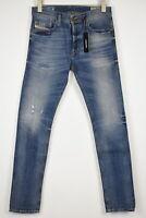 UVP 130 Diesel TEPPHAR 0853Y Stretch Herren W28/L32 Slim Karotte Zerrissen Jeans