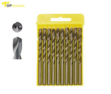 """1/4"""" (6.5 MM) Drill Bits for Stainless Steel Aluminum Metal Iron Copper, 10-Pack"""