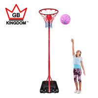 New Kingdom GB Netball Post Basketball Stand Adjustable Height Size On Wheels