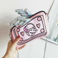 Women Handbag Small Chain Shoulder Bag Pink Funny Holographic Purse Mini Clutch