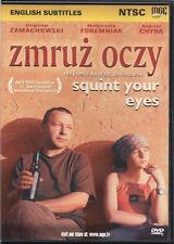Zmruz oczy (DVD) Squint Your Eyes NTSC  Zbigniew Zamachowski POLSKI POLISH