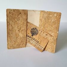 Modern Light Brown Slim Bifold Quercus Suber Cork Business & Credit Card Holder