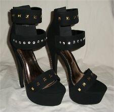 Sexy Stiletto Ankle Strap Open Toe Rhinestone Crystal Platform High Heels sz8