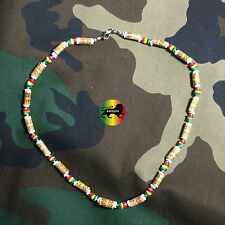 "Choker Rasta Style Necklace Roots Necklace Africa Selassie Reggae Jamaica 18"""