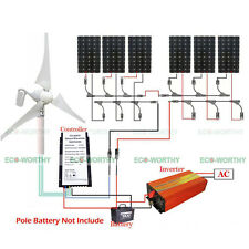 400W Wind Turbine Generator& 6*150W Solar Panel & 1500W Pure Sine Wave Inverter