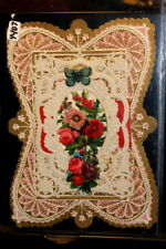 #4407,Nice Early Circa 1860 Lace Valentine