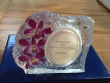 HAND MADE REAL ORCHIDS PHOTO FRAME