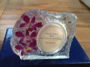 PHOTO FRAME HAND MADE REAL ORCHIDS