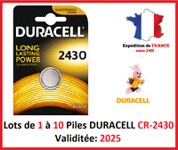 Lot de 1 à 10 Pile CR-2430 / DL-2430 DURACELL bouton Lithium 3V DLC 2025