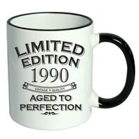 28th Birthday Novelty Cup Mug Coffee Tea Limited Edition 1990 Aged To Perfection