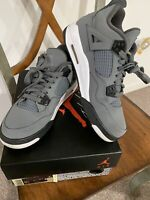 Air Jordan 4 Retro (GS) Cool Grey Chrome Dark Charcoal Boys Sneakers Size 6.5