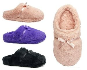 New Women House Slipper Coral Fur Butterfly Bow Slipper Warm Comfortable-304
