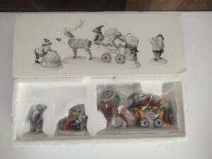 Dept 56 Heritage Village North Pole Series Letters for Santa Set 3 Figures